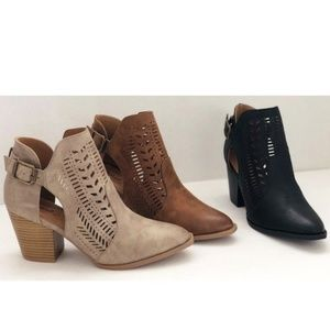 Cadence Booties - Taupe (Front left)